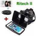 RITECH II VR Коробка Глава Гора 3D VR Виртуальная Реальность Очки для 3.5 дюймов до 6 дюймов Смартфон + Bluetooth Пульт дистанционного управления