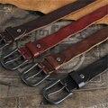Первый Слой Кожаный Ремень Мужчин Пояса Джинсов Случайные Старинные Пряжкой Мужской Ремень Ceinture Homme Cinturones Hombre MBT0401