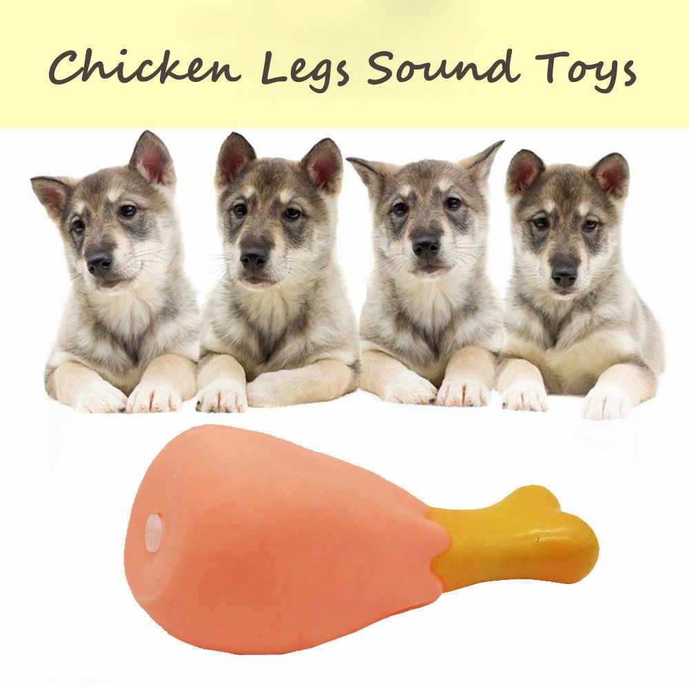 Śliczne wokal zabawki gumowe noga kurczaka kształt zielony materiał odporne na zużycie gryźć pet zabawka molar stick palo de mascota molowe # A