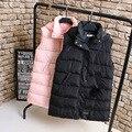 A0 Зимние Случайные Женщины Длинный Мягкий Жилет Пальто Плюс Размер Одежды С Капюшоном Hairball Толщиной Верхняя Одежда Мода Мягкий ватные куртки 1080