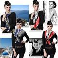 Women scarf lady Euro Style New Fashion 90cm*90cm Square Silk Polyester Scarf High Quality Femal Shawls 2 colors L020