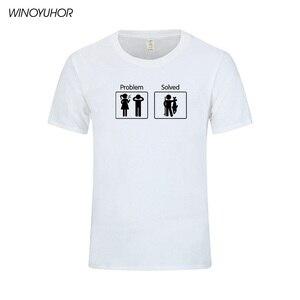 Image 4 - Fishinger פותר בעיות T חולצה קצר שרוול אישית גברים של בגדי קיץ חדש אופנה O צוואר כותנה גברים טי חולצות