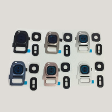 For Samsung Galaxy S7 G930 G930P S7 edge G935 10Pcs Back Rear Camera Glass Lens Cover Frame Holder with Flash Diffuser