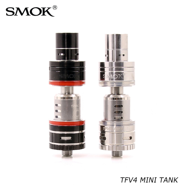 Electronic Cigarette Atomizer Original Smok TFV4 Mini Atomizer Sub Ohm Tank 510 Vape Tank VS SMOK TFV8