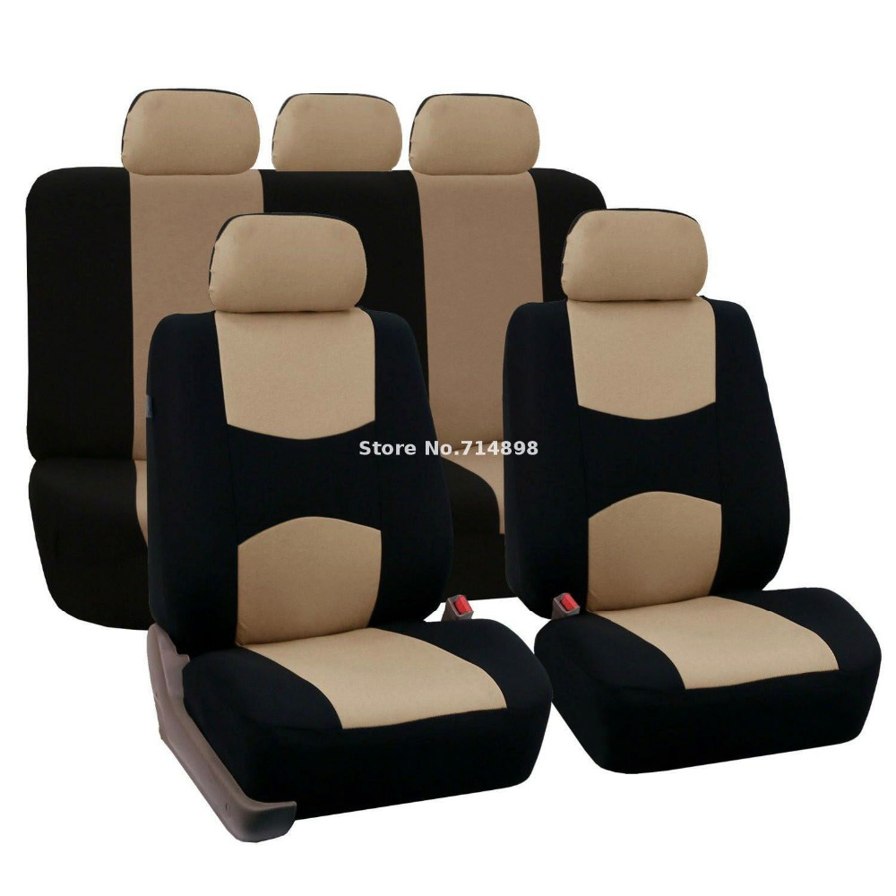 Carnong Car Seat Cover Universal jersey fabric set full light weight car interior accessory seat belakang TIDAK DETACH auto seat cover