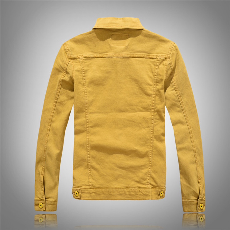 827762475 New Fashion Men's Denim Jackets Slim Fit Spring Autumn Jeans Jacket Black  Yellow Pink Turn Down Collar Outwear Size M 4XL-in Jackets from Men's  Clothing on ...