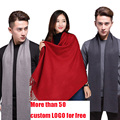 NewFashion Korean Autumn Winter High-quality Scarf  Women Men Warm Knit Neck Circle Wool Like Plush Rabbit Hair Scarf Shawl Wrap