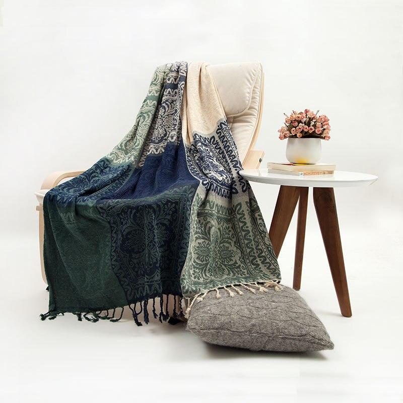 Bohême canapé coton couverture écharpe Plaid chaise lit décor serviette couvertures voyage bureau dormir couette couvre-in Couvertures from Maison & Animalerie    2