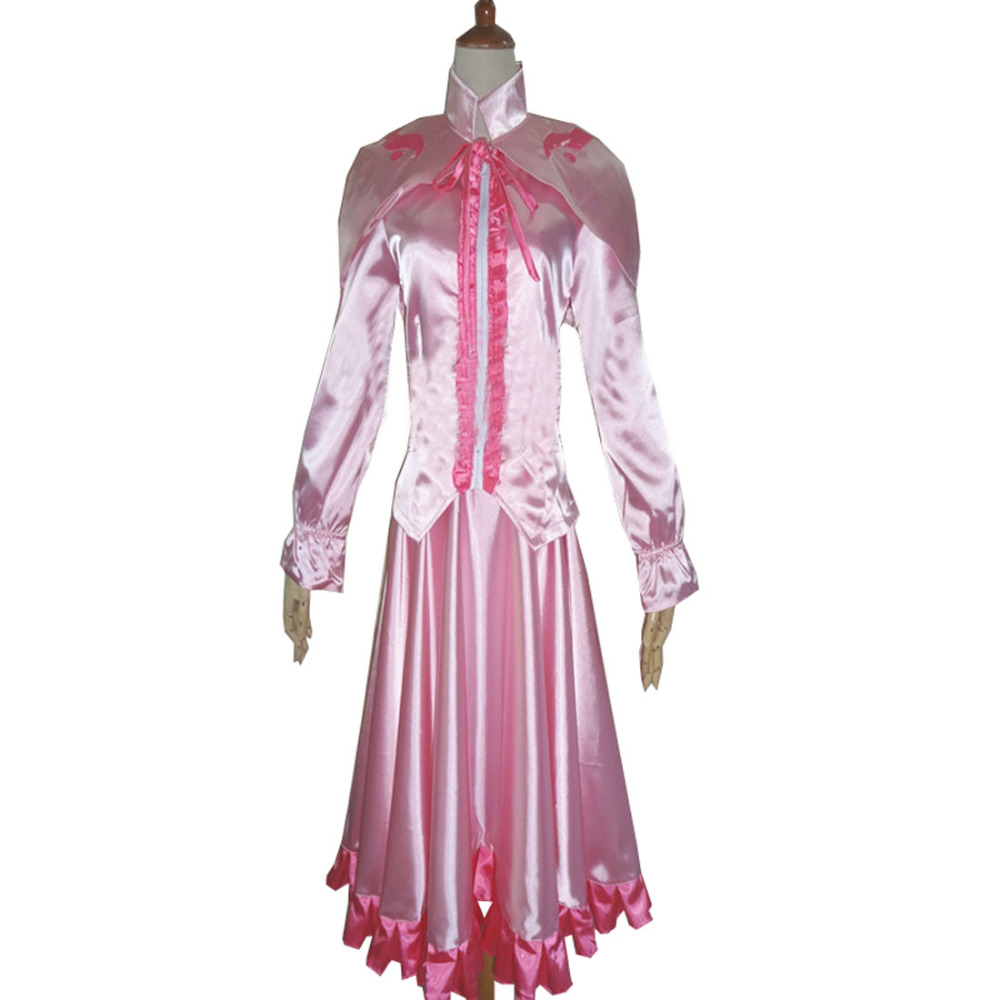 2017 Akame ga KILL! Uniform Suit Cosplay Costume Sniper Mine Outfit Women Girls Pink Dress