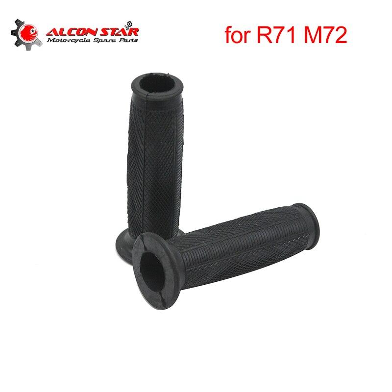 Alconstar- Rubber Black Motorcycle HandleBar Handle Grips Retro Grips Case For BMW R71 R12 M-72 Ural CJ-K750 Racing