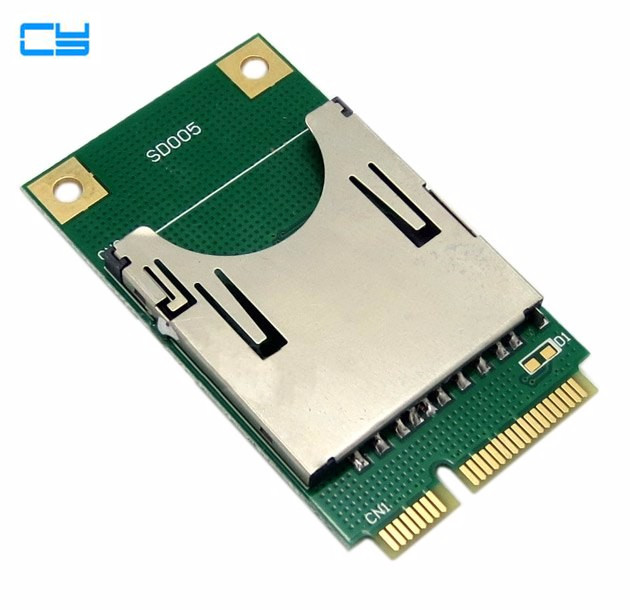 Mini PCI E Express pcie pci express pci express to SD SDHC MMC Memory adapter Card Converter Reader
