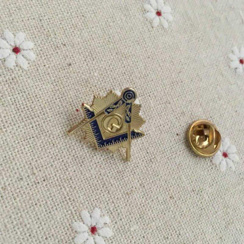 50 pcs en gros personnalisé carré et boussole avec Sunburst épinglette bleu Lodge franc maçon maçonnique épingles en métal Badge et broche-in Broches et badges from Maison & Animalerie    1