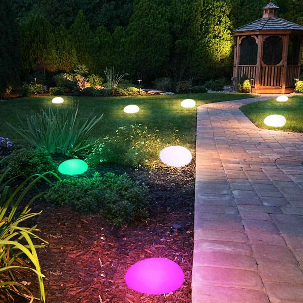 Solar Lights Outdoor Glow Cobble Stone