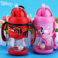 Disney cartoon baby drink cup tritan material food grade silicone PP sippy cup shatter resistant leak proof student children cup