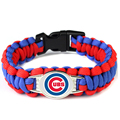 Chicago Cubs MLB Team Bangles Paracord Survival Friendship Outdoor Camping Sports Bracelet 6pcs/lot