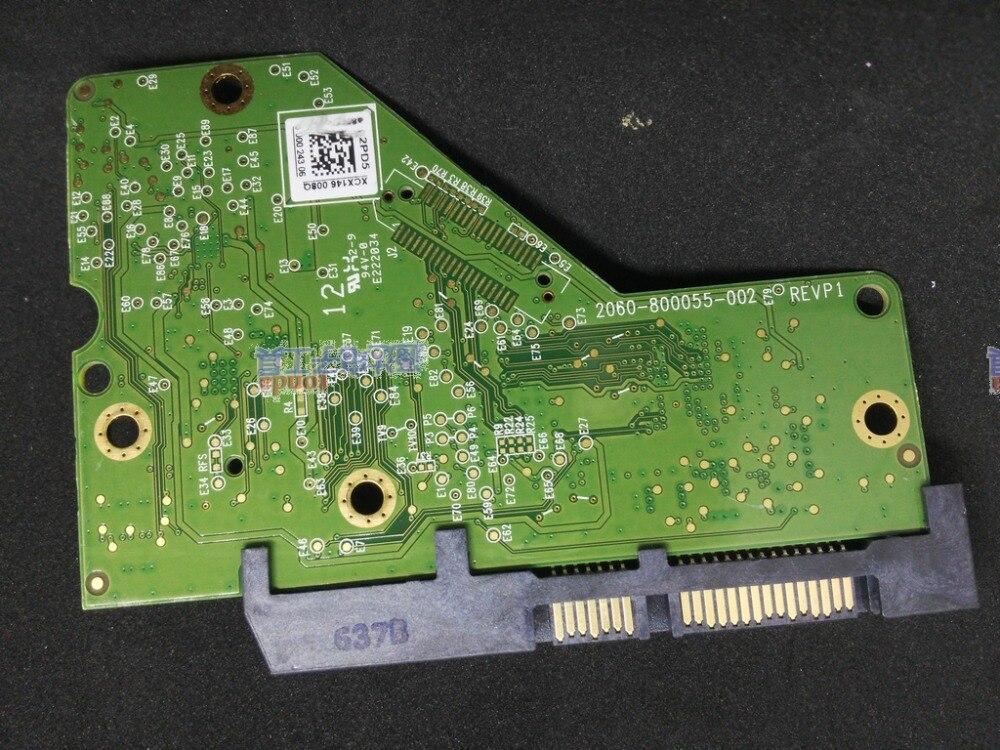 HDD PCB circuit board logic board 2060-800055-002 REV A/P1 for WD 3.5 SATA hard drive repair data recoveryHDD PCB circuit board logic board 2060-800055-002 REV A/P1 for WD 3.5 SATA hard drive repair data recovery