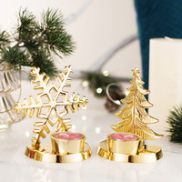 American living room Christmas ornaments Candlestick deer Snowflake Christmas tree ornaments romantic candlelight dinner maple