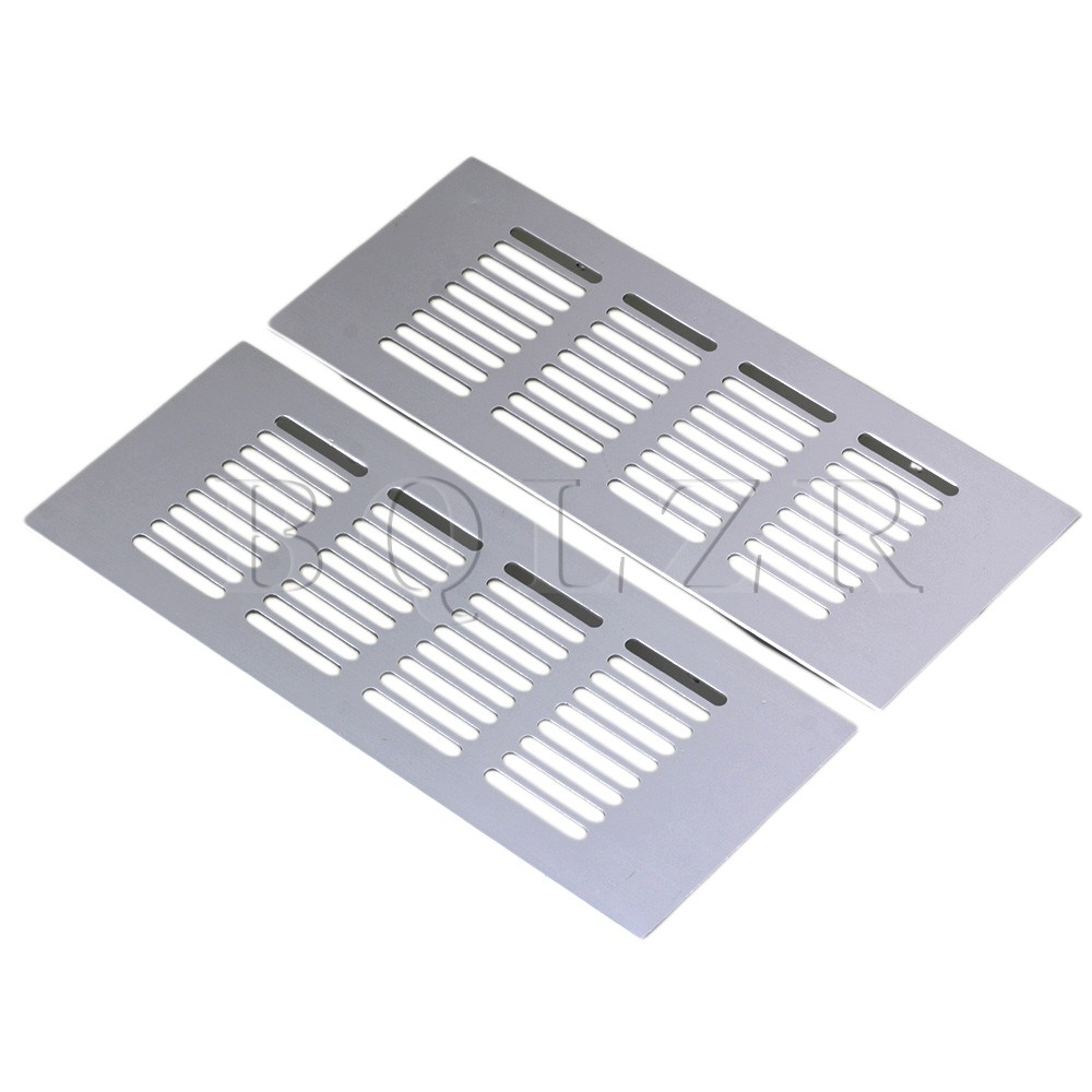 BQLZR 2pcs 200mm Square Aluminum Ventilation Vent Grille For Cupboard Wardrobe