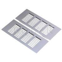 BQLZR 2pcs 200mm Square Aluminum Ventilation Vent Grille For Cupboard Wardrobe