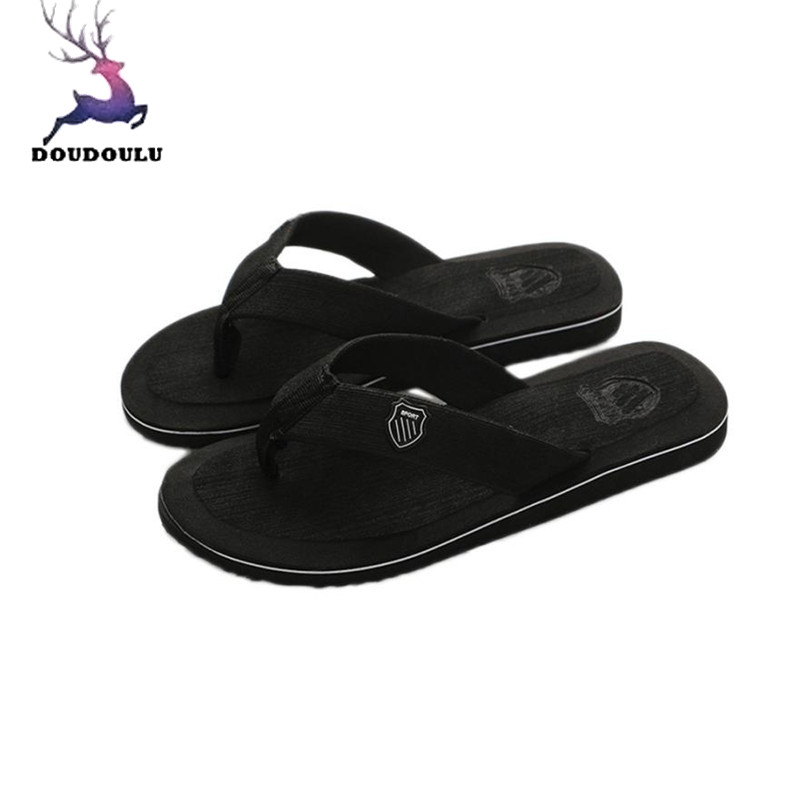 Men's Summer Shoes Flip-flops Slippers Beach Sandals Indoor&Outdoor Casual Shoes Fashion EVA Men Beach Slipper Size 40~44(China)