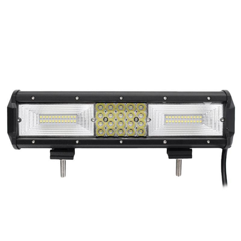 12 inch 130200LM 68 LEDs 10-30V 840W Light Bar Off Road Driving Fog Lights Work Light for Van Camper Wagon ATV SUV (Black)