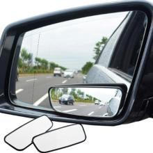1 Pair decoration Car Blind Spot Mirror Wide Angle 360 Degree Adjustable Auxiliary Rearview car mirror lancer blind spot