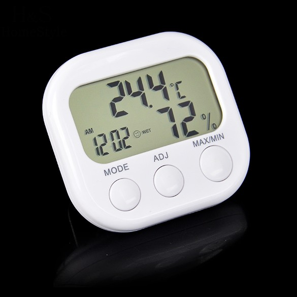 High accuracy LCD Digital <font><b>Thermometer</b></font> Hygrometer Indoor Electronic Temperature Humidity Meter Clock