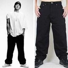 Мешковатые джинсы в стиле хип-хоп, Новое поступление, свободные, широкие, джинсовые штаны для скейтбординга, уличная одежда, винтажные, черные