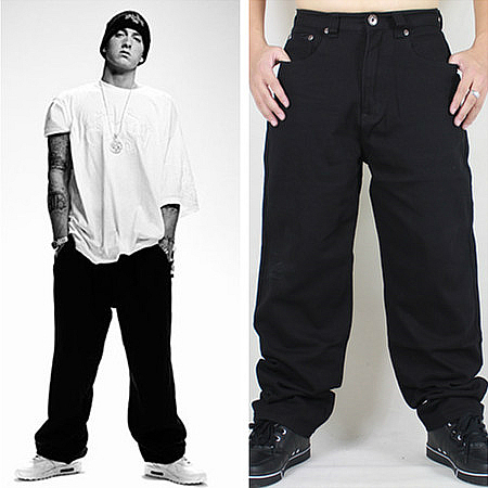 Hip Hop Baggy Jeans 2020 New Arrivals Loose Fit Wide Leg Denim Pants Skateboarder Streetwear Vintage Black