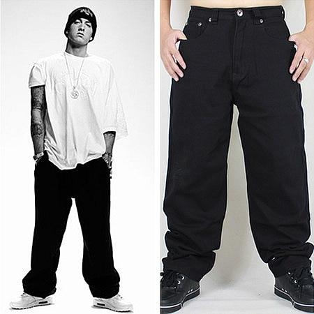 Hip Hop Baggy Jeans 2020 New Arrivals Loose Fit Wide Leg Denim Pants Skateboarder Streetwear Vintage Black