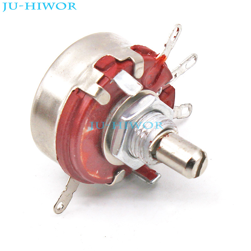 US $3 4 7% OFF|(5pcs/lot) 2W 150K OHM Single Rotary Potentiometer B150K  WTH118 1A Linear Taper With Nuts and Shim-in Potentiometers from Electronic