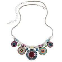 Moda Vintage Étnico Crystal Rhinestone Collares y Colgantes Bohemia Joyería Steampunk Gargantilla Declaración Collar Para Wamen