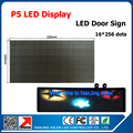 Display LED sinal da porta plug and play P5 SMD interior Full Color Módulo de Led com Placa de Vídeo P5 levou exibição sinal tela Z4 16*256 cm