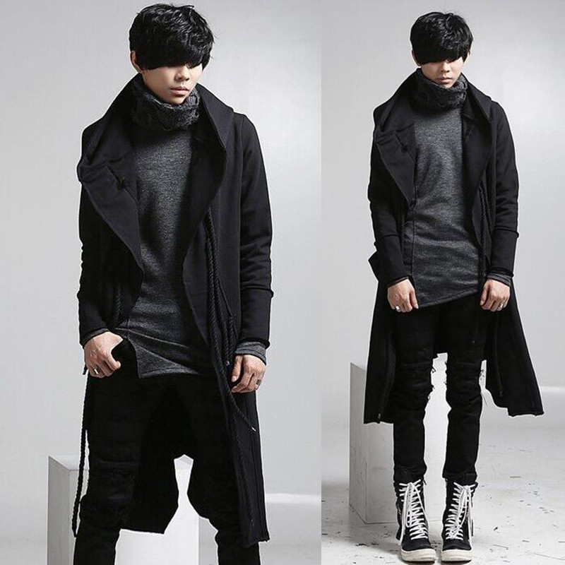 Popular Trench Coat Men Black-Buy Cheap Trench Coat Men Black lots ...
