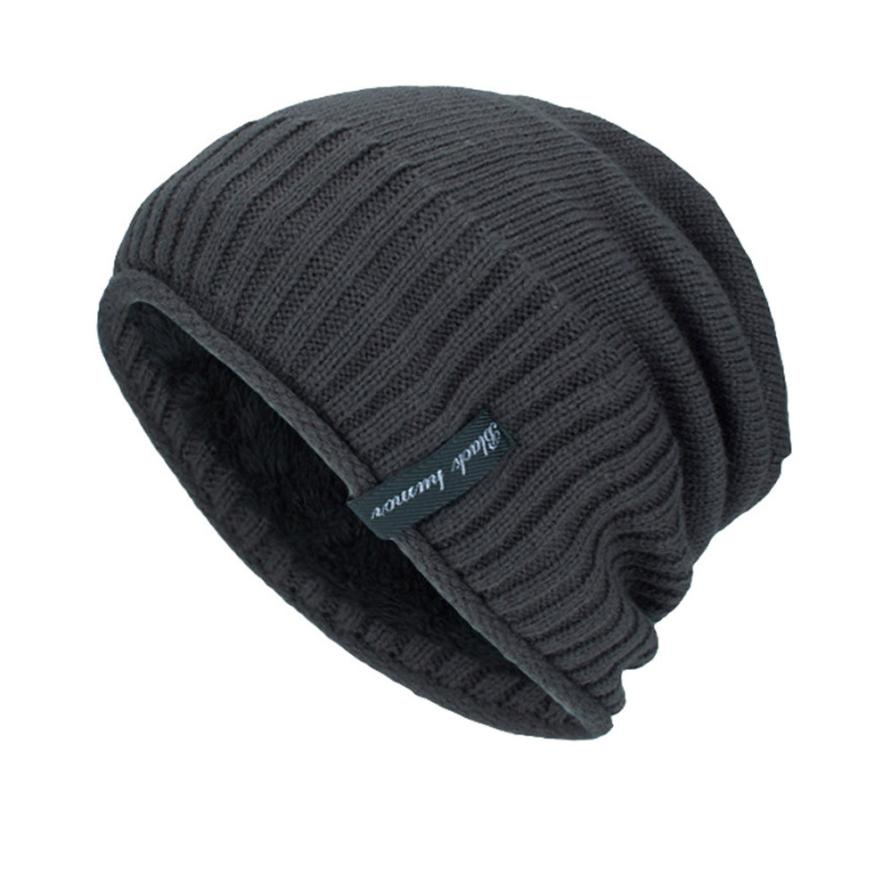 82da5275f55 Beanies For Men Wool Hat Knitted Winter Hat Men Skullies Male Cap ...
