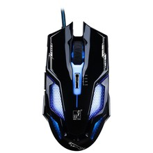 лучшая цена Wired Optical Gaming Mouse 2400dpi Rechargeable Mice Ergonomic For PC Laptop Computer LED Backlit gamer mouse