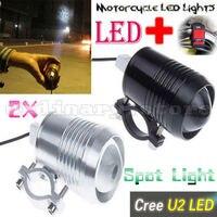2x 30W U2 LED Motorcycle Headlight Motorbike Light Spotlight Waterproof Driving Car Truck Fog Spot Head