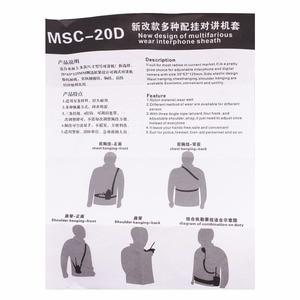 Image 5 - Funda de transporte de nailon para Walkie Talkie BaoFeng MSC 20D UV 5R UV 5RA UV 5RB/5RE UV 5RC UV B6 TYT motocross Radio, 2 uds.