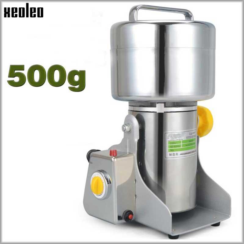 XEOLEO Grão moedor De Grãos de Moagem Elétrica máquina de Moer máquina de pó de 500g tipo Balanço de Aço Inoxidável grinded Especiarias/Ervas