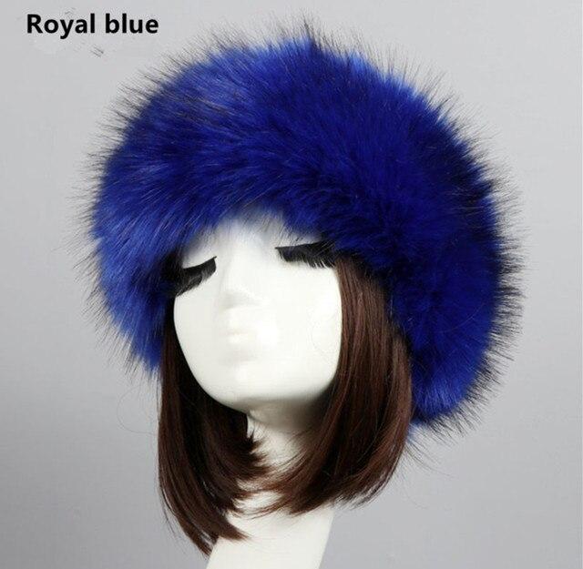 b85eb6b9532b1 Yyun Luxury Brand Russian Cossack Style Faux Fur Headband for Women Hair  Band Femme Winter Earwarmer Earmuff Hat Ski