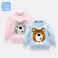 Jingle Mallet Boy Girl Clothes Kids Autumn Winter Knitted Pullovers Turtleneck Sweaters Warm Outerwear Unisex Sweaters