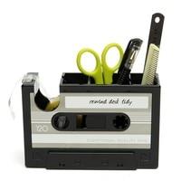 Винтаж кассета клей Клейкие ленты держатель пера Ваза Карандаш горшок канцелярские стол аккуратный контейнер канцелярские принадлежности...