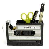 Vintage Cassette Adhesive Tape Holder Pen Holder Vase Pencil Pot Stationery Desk Tidy Container Office Stationery
