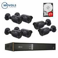 8CH XVR system CCTV 1080P AHD H.264 2MP 4 sztuk 6 sztuk system monitoringu wizyjnego na zewnątrz wodoodporny IR-CUT aparatu bezpieczeństwa zestaw Movols