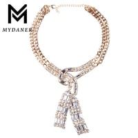MYDANER 2017 New Fashion Bohemia Rhinestone Jewelry Hip Hop Bling Stone Iced Out Crystal Pharaoh Link