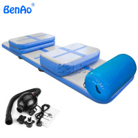 GA137 BENAO Free shipping +Air pump Full set Inflatable air track training set, gym jumping crash air track mat/air track