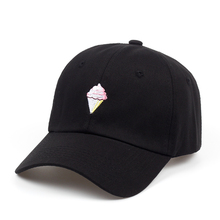 525be9be0ad7b6 2018 brand Ice Cream Dad Hat Cap cotton Curved Baseball golf Embroidered  Bill Unstructured Strapback Hip