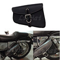 1 Peça Preta Alforje Saddle Bag Saco Da Bagagem Da Motocicleta PU de Couro do lado Esquerdo Fit Para Harley Sportster XL 883