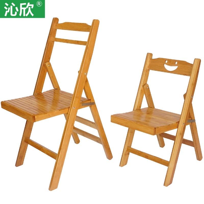 Bamboo folding chairs office outdoor portable chairs for Silla que se convierte en mesa