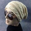 Hot Newest Style Men's Women's Stripe Twist Knit Baggy Beanie Hat Winter Warm Oversized Ski Cap 7FHM